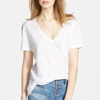Women's Madewell Slub Pocket V-Neck Tee