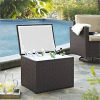 Palm Harbor Outdoor Wicker Cooler Crosley Furniture Beverage Tubs & Coolers Outdoor Cookin