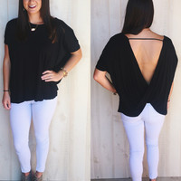 Party Out Back - Open Back Top - Black