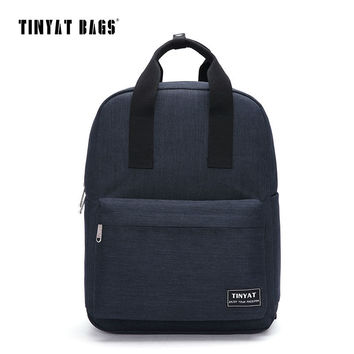 TINYAT Canvas Men School Bags Student School bags 15inch laptop computer backpack Women Casual Travel Bag Black Gray Red T809