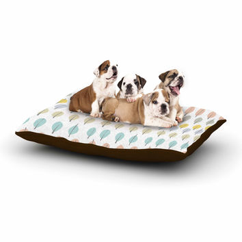"Gukuuki ""Simple Leaves"" Multicolor Nature Dog Bed"