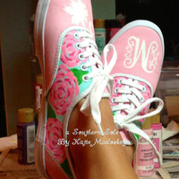 Lilly Pulitzer Inspired Hand Painted Custom Toms by ASouthernSole