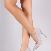 Qupid Suede Pointy Toe Pump