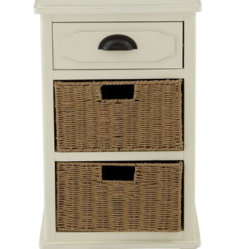 "Cute Wood Basket Small Chest 16""W, 29""H"