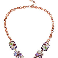SPRING FLING LARGE PURPLE STONE NECKLACE PURPLE