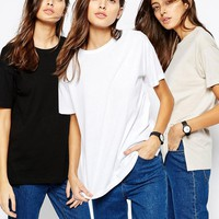 ASOS | ASOS Linen Look Oversized T-Shirt 3 Pack Save 15% at ASOS