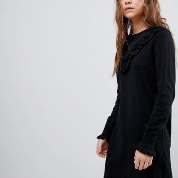 Only Dress With Ruffle Front at asos.com