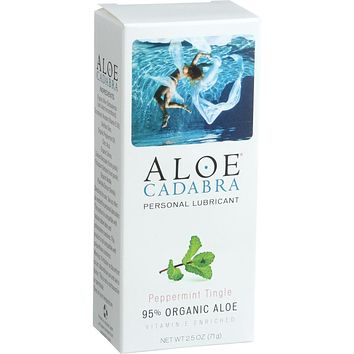 Aloe Cadabra Natural Organic Personal Lubricant; Peppermint - 2.5 oz