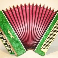 Tula Tembr 100 Bass Button Accordion, Vintage Russian Bayan Tulskiy 76