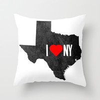I (Heart) TX Throw Pillow by BinaryGod.com