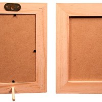 Creative Hobbies® 4 Inch x 6 Inch Unfinished Wood Picture Frames - Stand or Hang on the Wall - Lot of 6
