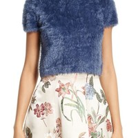 Alice + Olivia Ciara Crop Eyelash Sweater | Nordstrom