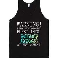 Burst Into Disney Songs-Unisex Black Tank