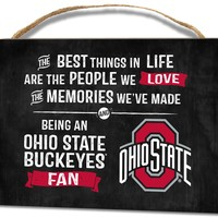 Ohio State Buckeyes Small Plaque - Best Things
