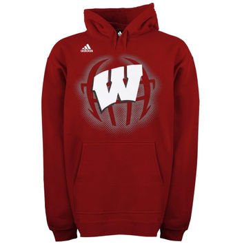 adidas Wisconsin Badgers Training Helmet Hoodie - Cardinal