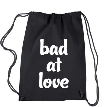 Bad At Love Drawstring Backpack