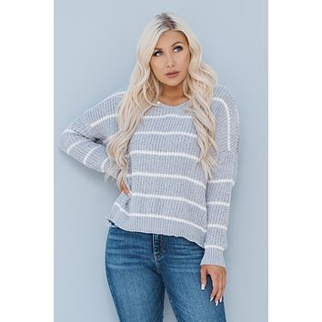 Knot Fair Sweater (Grey)