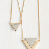 Tri As You May Necklace | Mod Retro Vintage Necklaces | ModCloth.com