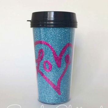 Love Glitter Travel Mug