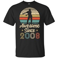 Vintage Flossing Awesome Since 2008 12th Birthday Gift Youth