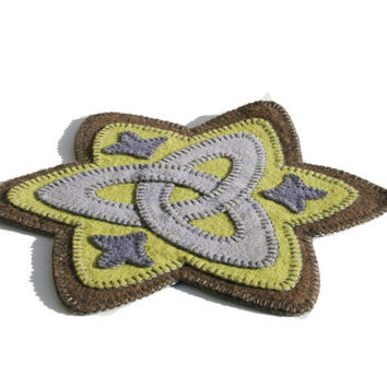PDF - Triquetra PDF Penny Rug Pattern, trinity, celtic knot, gaelic, instant download, coin drop mat