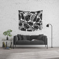 Urban Jungle White Wall Tapestry by Heather Dutton