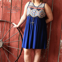 Plus Size Print Tank Knee Length Dress