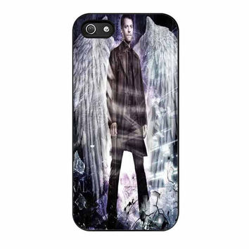 supernatural castiel with wings cases for iphone se 5 5s 5c 4 4s 6 6s plus