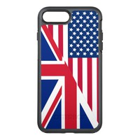 American and Union Jack Flag iPhone 7 Plus Case
