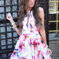 Living in Paradise Ivory Floral Dress