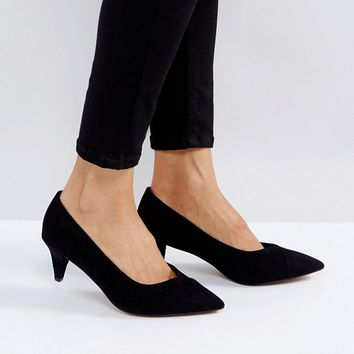 ASOS SOUTHERN Wide Fit Pointed Kitten Heels at asos.com