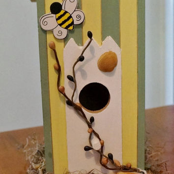 Decorative Hand Painted Outhouse Birdhouse