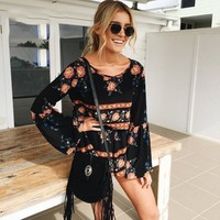 Trendsy Backless Boho Jumpsuit