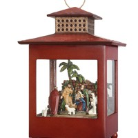 Red Nativity Lantern