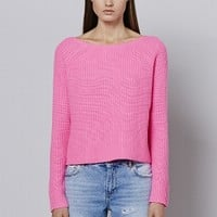 SCOTTI at 360SWEATER in ELECTRIC BLUE, ELECTRIC PINK, LIMEADE, TANGERINE