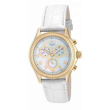 Invicta Women's 12990 Angel Quartz Chronograph White Dial Watch