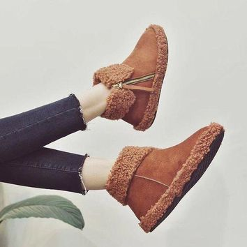 ca PEAPTM4 On Sale Hot Deal Winter Thick Crust Round-toe Dr. Martens Suede Lovely Boots [47581691911]
