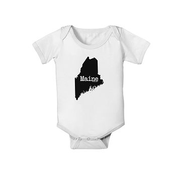 Maine - United States Shape Baby Romper Bodysuit by TooLoud