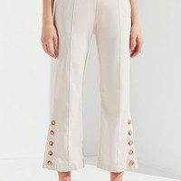 UO Sandra Side-Button Cropped Flare Pant | Urban Outfitters