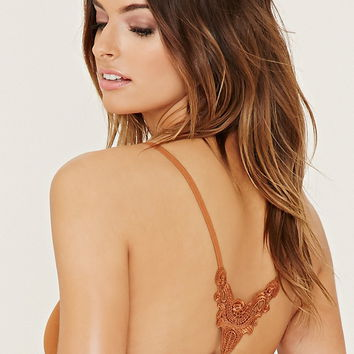 Crochet-Back Seamless Bralette