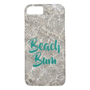 Sparkeling water on sand beach bum phone case