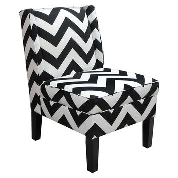 Porter Wingback Chair, Black/White, Accent & Occasional Chairs