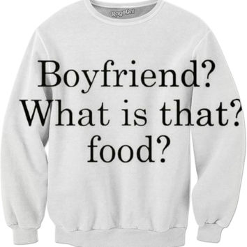 Boyfriend? What Is That Food Sweater