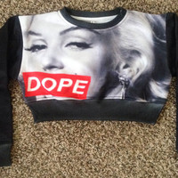 Marilyn DOPE Crop Top from ThugAve