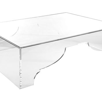 "Marrakesh 60"" Cocktail Table, Acrylic / Lucite, Coffee Table Base"
