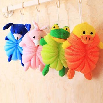New Arrival Bath Shower PE Animal modeling Bath balls Baby shower Body Washing Cleaning Supplies