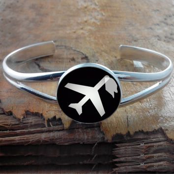 airport  Dealthly hollows   bracelet,cufflink bracelet,Silver Metal Cuff Bracelet,Photo Jewelry - wdding gift for brade brademaid