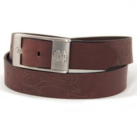 Notre Dame Fighting Irish NCAA Men's Embossed Leather Belt (Size 42)