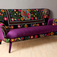 Suzani 3 seater sofa - winter