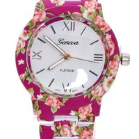 Flower Style Women Watch, Green